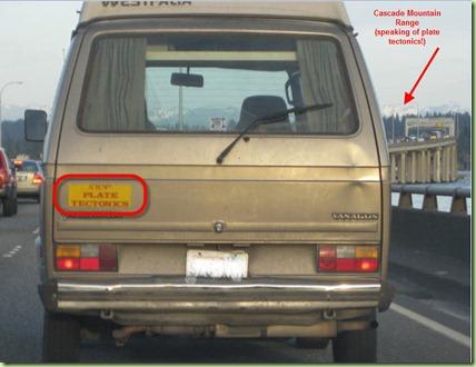 If this vans a rockin bumper sticker